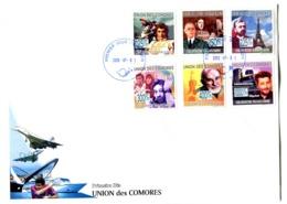 Thème Général De Gaulle - FDC Comores Yvert 1571 à 1576 - GFDG 80 - De Gaulle (General)