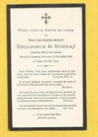 GENEALOGIE FAIRE PART  DECES VICTOR DE BELLAIGUE DE BUGHAS INSPECTEUR GENERAL DES FINANCES 1894 CLERMONT FERRAND - Décès