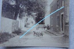 Photo DAVE Wépion Naninne Pre 1914 Enfant Dans Attelage Vieille Rue Animée Province De Namur - Lieux