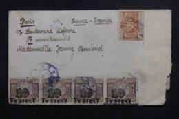 POLOGNE - Enveloppe Pour Paris Période Inflation ( 1923/24) , Affranchissement Plaisant Recto/ Verso - L 46509 - 1919-1939 République