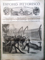 Emporio Pittoresco Del 15 Luglio 1877 Lavorazione Del Vetro Fortezza Sokol Voto - Voor 1900