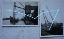 Photox2 Péniche Binnenscheepvaart Barge Belgium Circa 1935 Canal Kanaal Batellerie - Boten