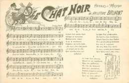 PARIS XVIII° Partition Le Chat Noir à Montmartre Paroles Et Musique D'Aristide Bruant - Distretto: 18