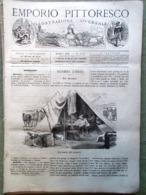 Emporio Pittoresco Del 22 Luglio 1877 Cosacco Viddino Braila Incendi Nei Teatri - Voor 1900