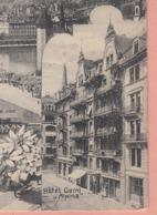 OUDE POSTKAART ZWITSERLAND - SCHWEIZ -   SUISSE -   LUZERN - HOTEL GARNI ALPINA - LU Lucerne