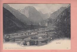 OUDE POSTKAART ZWITSERLAND - SCHWEIZ -   SUISSE -  LINTHAL MET ZICHT OP STATION - 1900'S - GR Graubünden