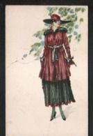 ILLUSTRATEUR , Mode, Femme Avec Chapeau - Künstlerkarten
