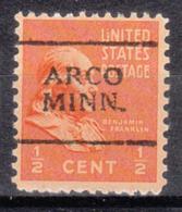 USA Precancel Vorausentwertung Preo, Locals Minnesota, Arco 701 - Vereinigte Staaten