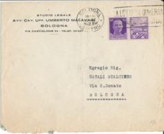 BOLOGNA 19-9-1942 LETTERA PROPAGANDA CENT. 50 - Storia Postale