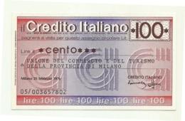 1976 - Italia - Credito Italiano- Unione Del Commercio E Del Turismo Della Provincia Di Milano - [10] Assegni E Miniassegni