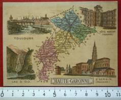 IMAGE SCOLAIRE ECOLE LYON CHROMO 1880's TOULOUSE HAUTE-GARONNE LIBRAIRIE JEANDÉ PARIS - Geographie