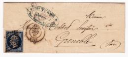 Lettre 1855 Lyon Rhône Terme Avoué Au Tribunal Civil 23 Rue Dubois Lyon - 1853-1860 Napoléon III