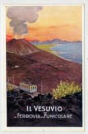 C.P. PICCOLA  NAPOLI  IL  VESUVIO  CON LA  FERROVIA  E  LA  FUNICOLARE        2 SCAN  (NUOVA) - Napoli (Naples)