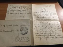 LETTERA IN BUSTA VIAGGIATA 1917 - Vecchi Documenti