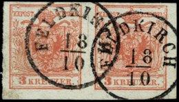 "(1850) "" FELDKIRCH "" Klar Auf Paar , A2513 - 1850-1918 Empire"