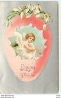 N°7479 - Carte Gaufrée - Joyeuses Pâques - Angelot Dans Un Oeuf - Clapsaddle - Pasen