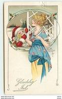 N°10619 - Carte Fantaisie - Kathryn Elliott - Père Noël Et Femme - Kerstmis