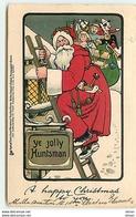 N°10622 - Carte Fantaisie - A Happy Christmas To You - Père Noël  Sur Une échelle - Kerstmis