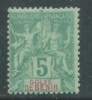 Bénin N° 23 X  Type Groupe : 5 C. Vert,  Trace De  Charnière Sinon TB - Unused Stamps