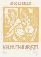 Ex Libris Helmuth Buratti - Remo Wolf (1912-2009) Gesigneerd - Ex-Libris