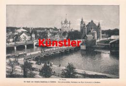 1440 Kunst Industrie Ausstellung Stockholm  Druck 1897 !! - Unclassified