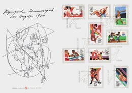 USA - 2 FDC Maximum - Los Angeles 1984 - With Competitions Dates - Rare - Sommer 1984: Los Angeles