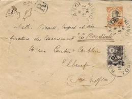 1924- Enveloppe E P 4 Cents + N°107  RECC. De HANOI   Tarif à 12 Cents Du 25 Mars 1924- - Indochina (1889-1945)