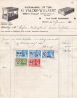 """Beerst ( Diksmuide) Kistenmakerij """" De Yzer"""" G; Valcke- Willaert 1942 - Marcapáginas"""