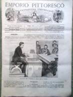 Emporio Pittoresco Del 9 Settembre 1877 Esperimenti Telefono Sonzogno Dobrucia - Voor 1900