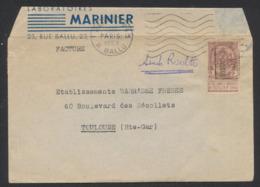 """Fine Barbe - N°55 + Obl Roulette """"Oostacker 04"""" Sur Lettre Imprimée à Destination De Toulouse (Hte - Gar) - 1893-1900 Schmaler Bart"""