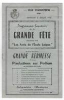 "63  -  AIGUEPERSE  -  Programme  -  "" Grande Fête "" - 1958 - Programs"