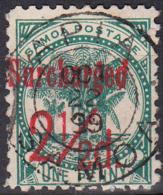 SAMOA    SCOTT NO. 28   USED   YEAR  1898 - Samoa