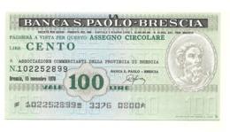1976 - Italia - Banca S. Paolo - Brescia - Associazione Commercianti Della Provincia Di Brescia - [10] Assegni E Miniassegni