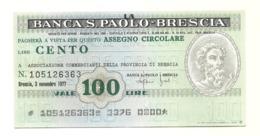 1977 - Italia - Banca S. Paolo - Brescia - Associazione Commercianti Della Provincia Di Brescia - [10] Assegni E Miniassegni
