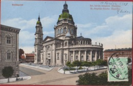 Hongarije Hongary Ungarn Hongrie Magyarorszag Budapest St Stephan Kirche Szt Istvan Templom Colorisee 1913 RARE Postcard - Hongarije