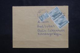 ALLEMAGNE - Enveloppe De Stuttgart En 1953 Pour Berlin, Affranchissement Plaisant Dont Demi Timbre - L 46522 - Cartas
