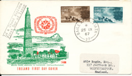 Ireland FDC 25-9-1967 International Tourist Year 1967 Complete With Cachet - FDC