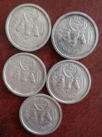 5 MONNAIES ALU DE 2 FRANCS 1948 - Madagaskar