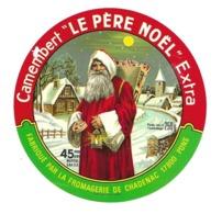 """ETIQUETTE De FROMAGE..CAMEMBERT """" Le PERE NOËL"""" Fabriqué Fromagerie De CHADENAC ( Charente Maritime 17)..poids 250 G - Cheese"""