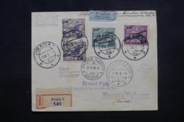 POLOGNE - Affranchissement Plaisant Sur Enveloppe En Recommandé De Praha En 1928 Pour La Suisse Par Avion - L 46526 - 1919-1939 République