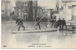 CPA ASNIERES  Crue De La Seine Le Quai De Courbevoie édit ELD - Courbevoie