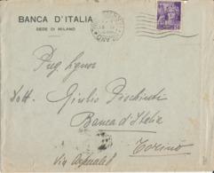MILANO-TORINO 18-4-1945 LETTERA CENT. 50 - 4. 1944-45 Social Republic