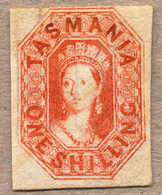 (*) 1858, 1 S. Vermillion, Unused Without Gum, Wmk 12, Imperf., Good To Ample Margins On Three Sides, Very Attractive An - Australien