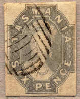 O 1860, 6 D., Grey, Used With Silent Obliterator Fom HOBART, Good To Very Wide Margins, Very Fresh And Attractive, VF!.  - Australien