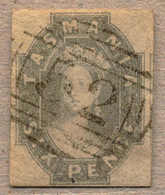 Piece 1860, 6 D., Grey, Tied To Piece, Cancelled By 52, Imperf., Good To Ample Margins, Very Rich Colour And Attractive, - Australien