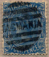 O 1870, 4 D., Blue, With Cancel TASMANIA, VF!. Estimate 380€. - Australien
