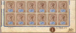 **/* 1896, 2 S. 6 D., Brown And Blue, 9 Stamps MNH Hinged In The Margins And 3 Stamps LPOG, IMPRIMATUR From The 2nd Prin - Australien