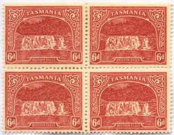 **/*/bof 1905, 6d., Carmine-lake, Block Of (4), Wmk Vertical Inverted, Top (2) MH, Bottom (2) MNH, VF!. Estimate 800€. - Australien