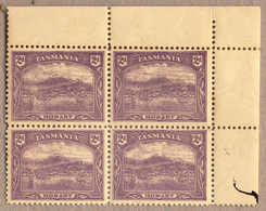 **/bof 1899-1911, 2d., Bright Violet, Perf Comp Of 12 1/2 And 11, Block Of (4), Top Right Margin Piece, MNH, Ex Robson L - Australien