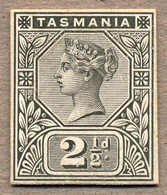 (*) 1891, 2 1/2 D., Black, Die Proof, As Usual Cut Close, Very Fresh And Unique, From The De La Rue Archive, VF!. Estima - Australien